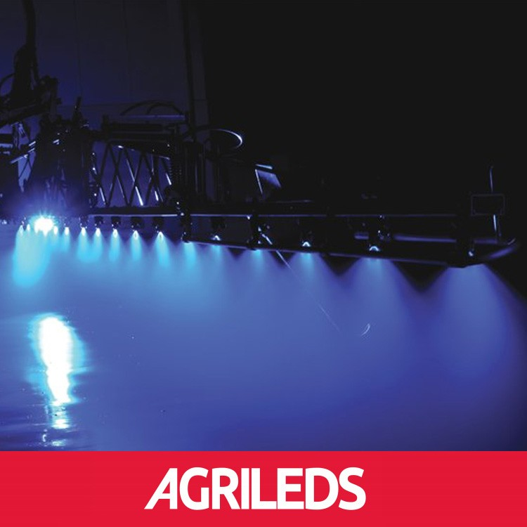 Agrileds blauwe led verlichting voor spuitmachines for Led verlichting voor tennisbanen