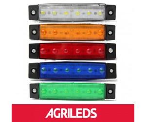 LED Markeringslicht 6 LEDS 12v