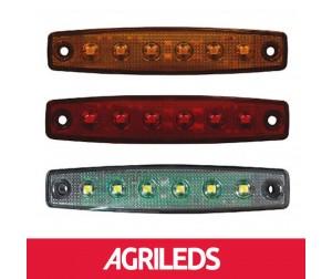 LED Markeringslicht 6 LEDS  Multi Voltage