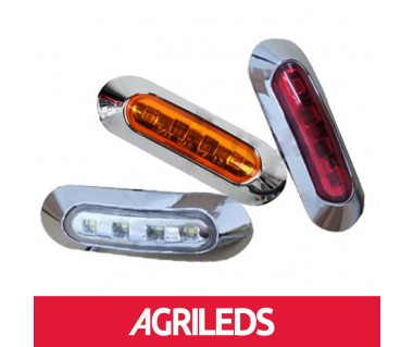LED Markeringslicht 4-LED Chrome