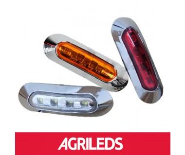 LED Markeringslicht 4-LED Chrome